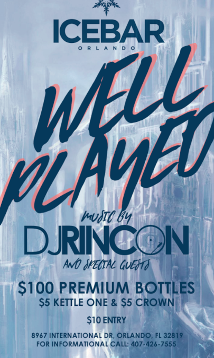 DJ RINCON @ Ice Bar - Orlando, FL