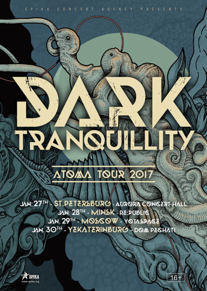 Dark Tranquillity @ Yotaspace - Moscow, Russia