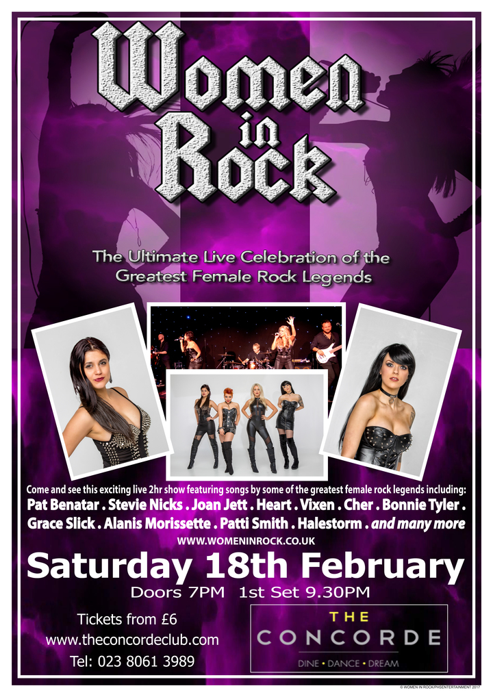 Women In Rock UK @ The Concorde Club - Eastleigh, United Kingdom