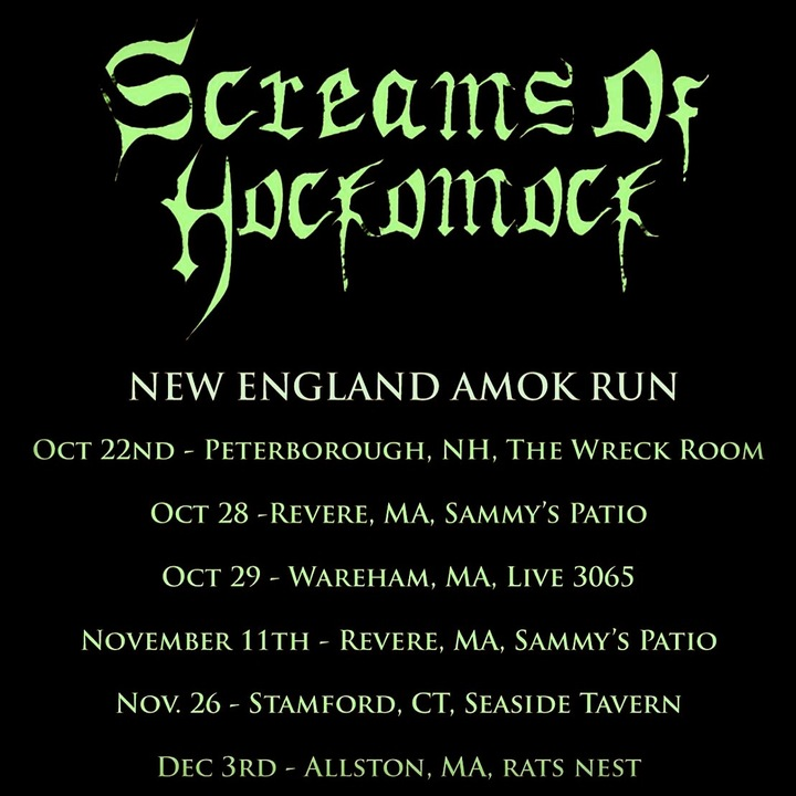 Screams Of Hockomock @ The Rat's Nest - Allston, MA