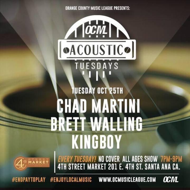 Chad Martini Tour Dates