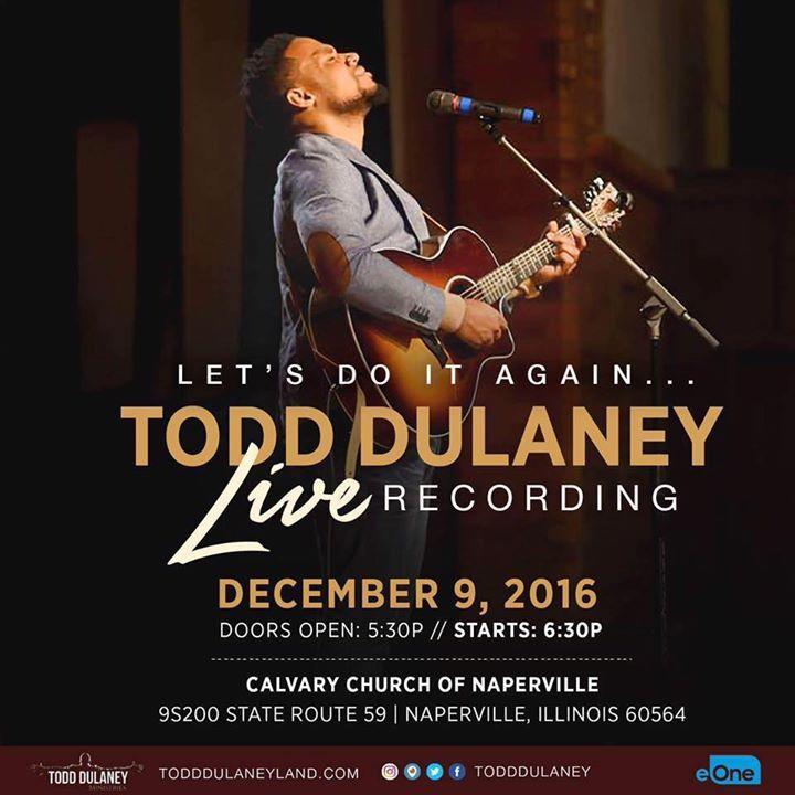 Todd Dulaney Tour Dates