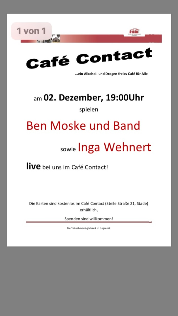 Ben Moske @ Café Contact - Stade, Germany