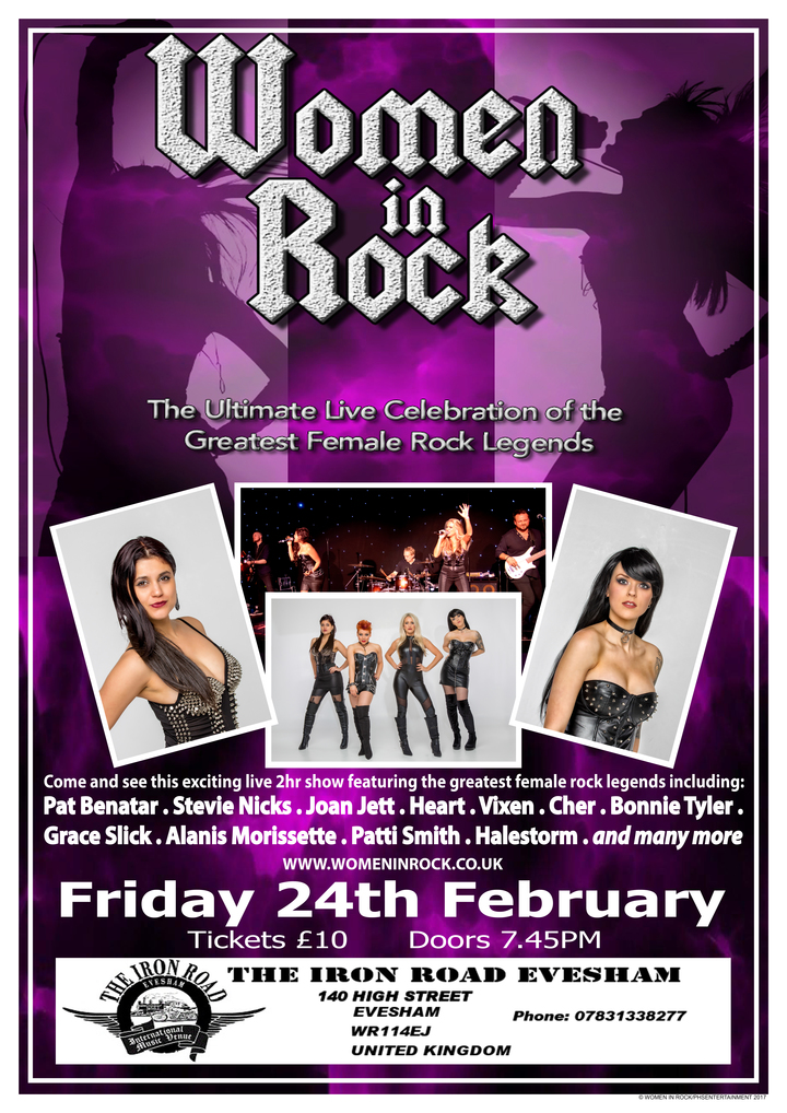 Women In Rock UK @ Iron Road Rock Bar - Evesham, United Kingdom