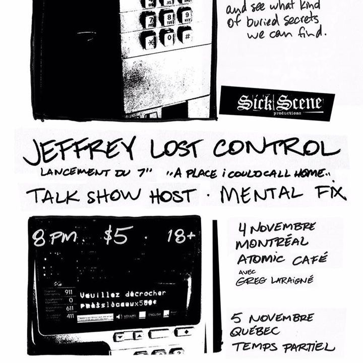 Jeffrey lost control Tour Dates