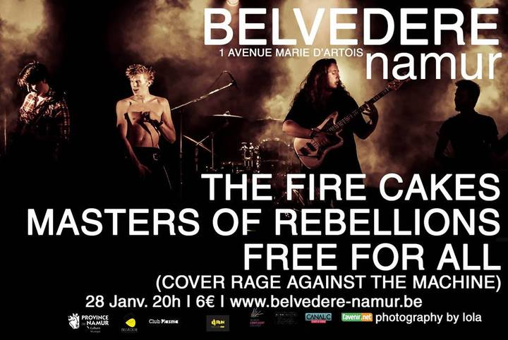 Masters of Rebellions @ Belvédère - Namur, Belgium