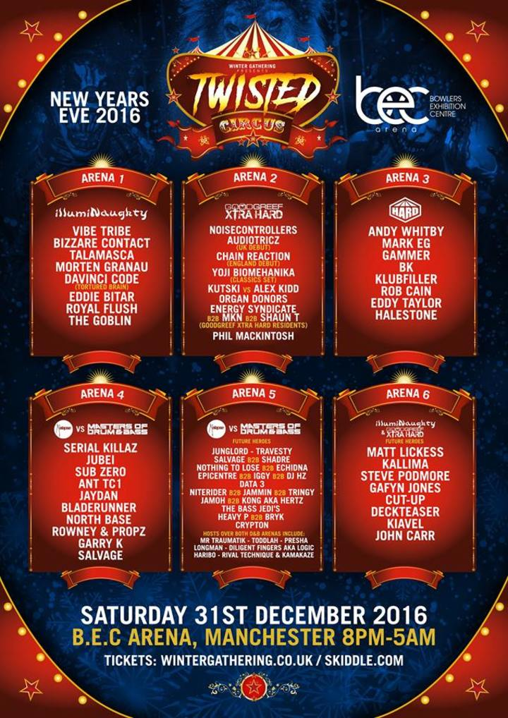 North Base @ Twisted Circus (NYE) @ Bowlers - Manchester, United Kingdom