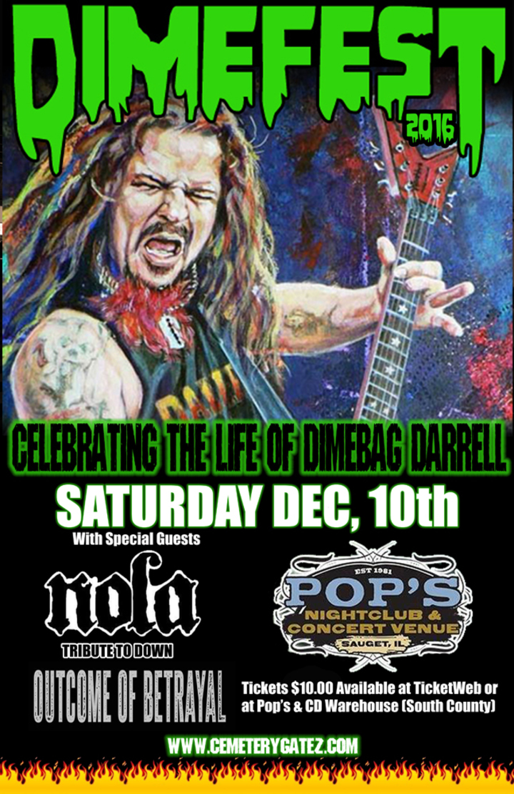 Cemetery Gatez (The Pantera Tribute Band) @ Pop's Nightclub - Sauget, IL