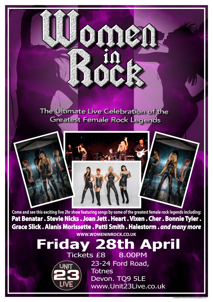 Women In Rock UK @ Unit 23 Live - Totnes, United Kingdom