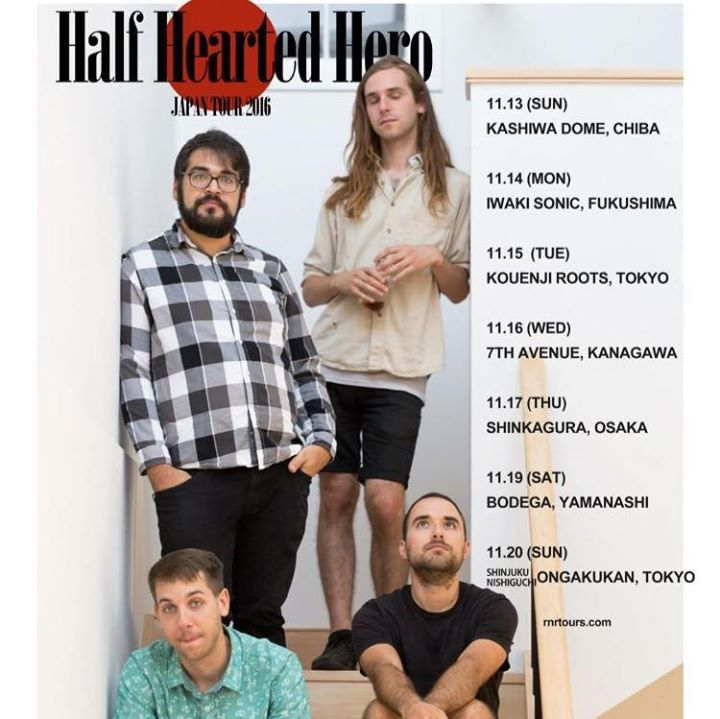 Half Hearted Hero Tour Dates