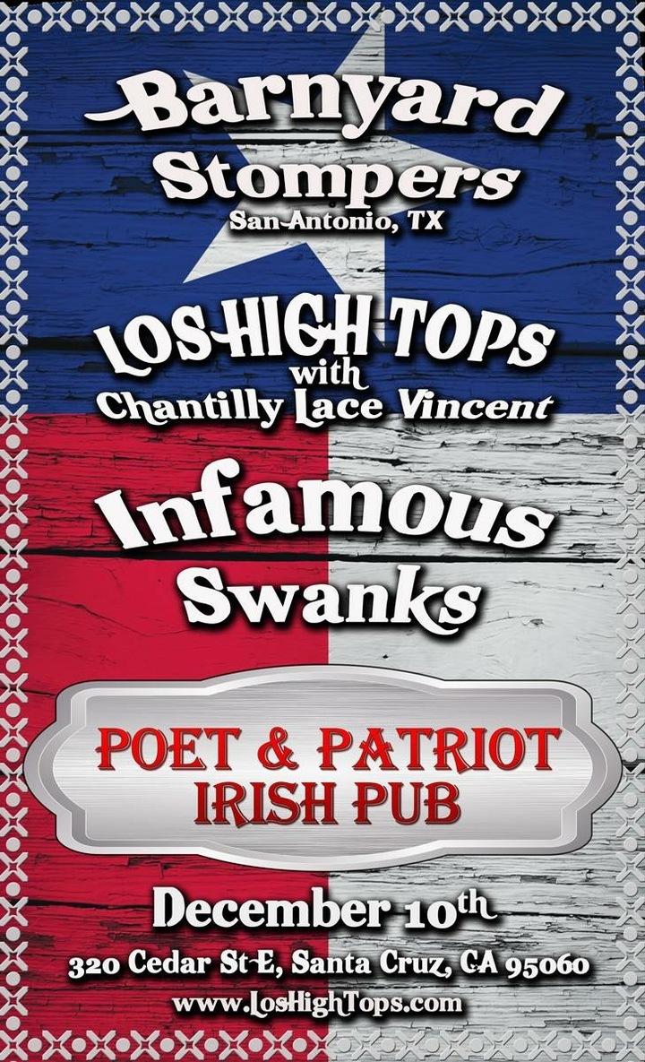 Chantilly Lace Vincent @ Poet & Patriot Irish Pub - Santa Cruz, CA