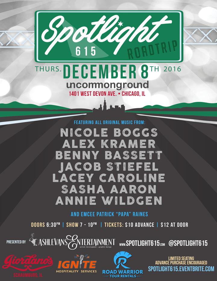 Jacob Stiefel Music @ Uncommon Ground - Spotlight 615 RoadTrip Show (w/ Nicole Boggs, Alex Kramer, Benny Bassett, Lacey Caroline, Sasha Aaron, & Annie Wildgen) - Chicago, IL