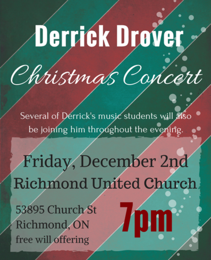 Derrick Drover @ Richmond United Church - Richmond, Canada