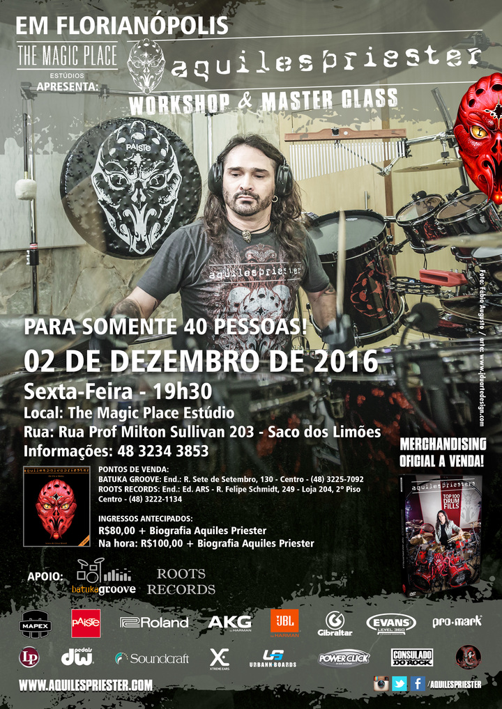Aquiles Priester @ THe Magic Place Estúdio - Florianópolis, Brazil