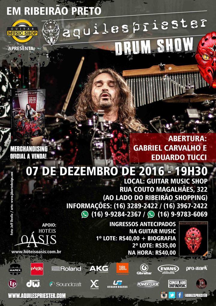Aquiles Priester @ Guitar Music Shop - Ribeirão Preto, Brazil