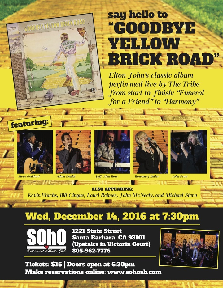 The Tribe Band @ Soho Restaurant & Music Club - Santa Barbara, CA