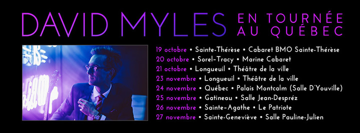 David Myles @ Salle Pauline-Julien - Ste-Geneviève, Canada
