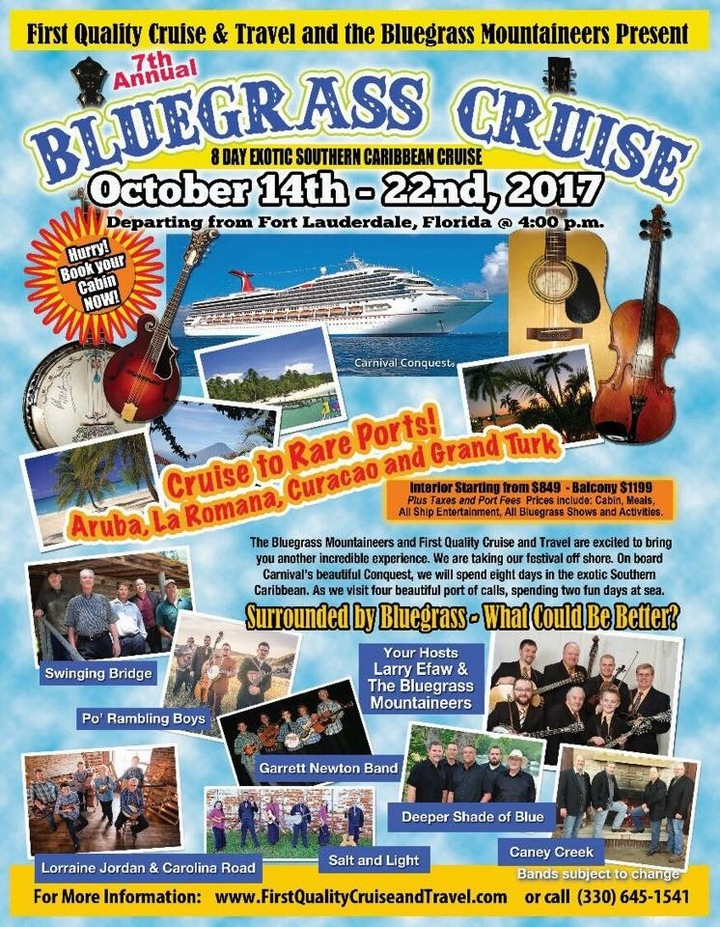 The Po' Ramblin' Boys @ First Quality Bluegrass Cruise  - Fort Lauderdale, FL