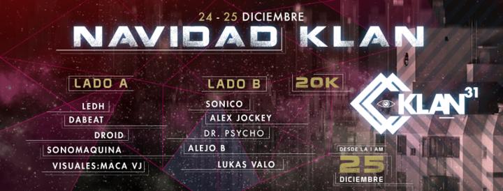 LEDH Dj @ Christmas Klan @ Klan 31 (2 stages) - Bogota, Colombia
