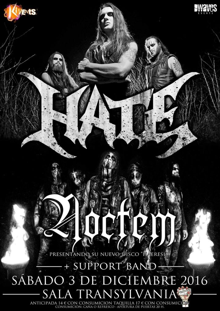 Dwaves events @ HATE + NOCTEM at Transylvania Metal Pub - Vigo, Spain