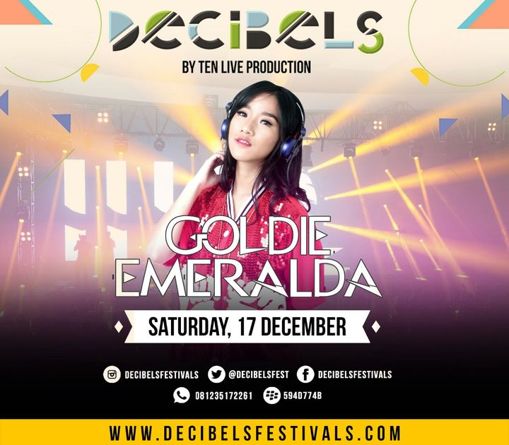 Goldie Emeralda @ Decibels Festival - Surabaya, Indonesia