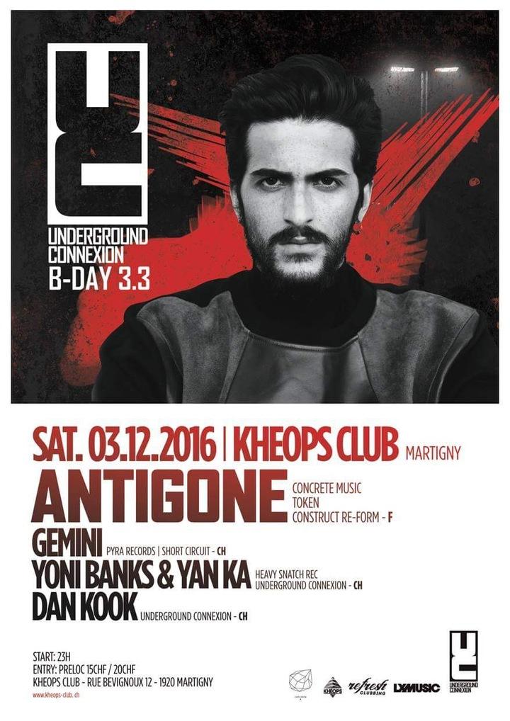 UNDERGROUND CONNEXION @ Kheops Club  - Martigny, Switzerland