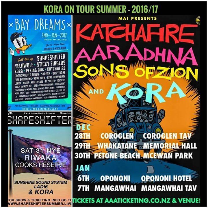 Kora Tour Dates