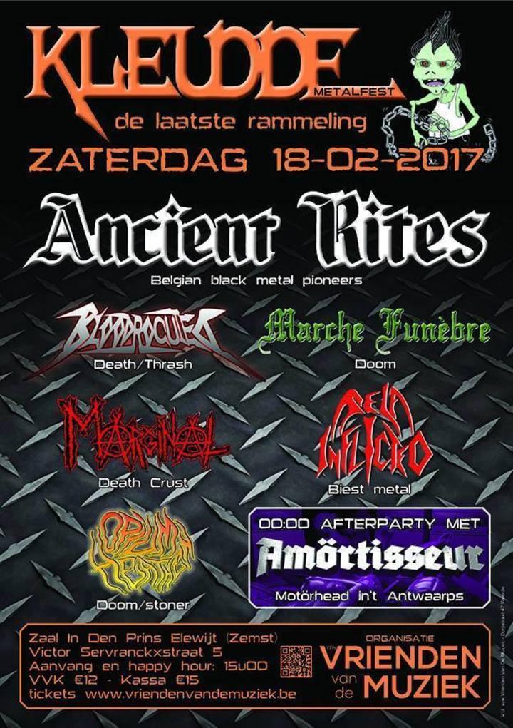 Ancient Rites @ In Den Prins - Zemst, Belgium