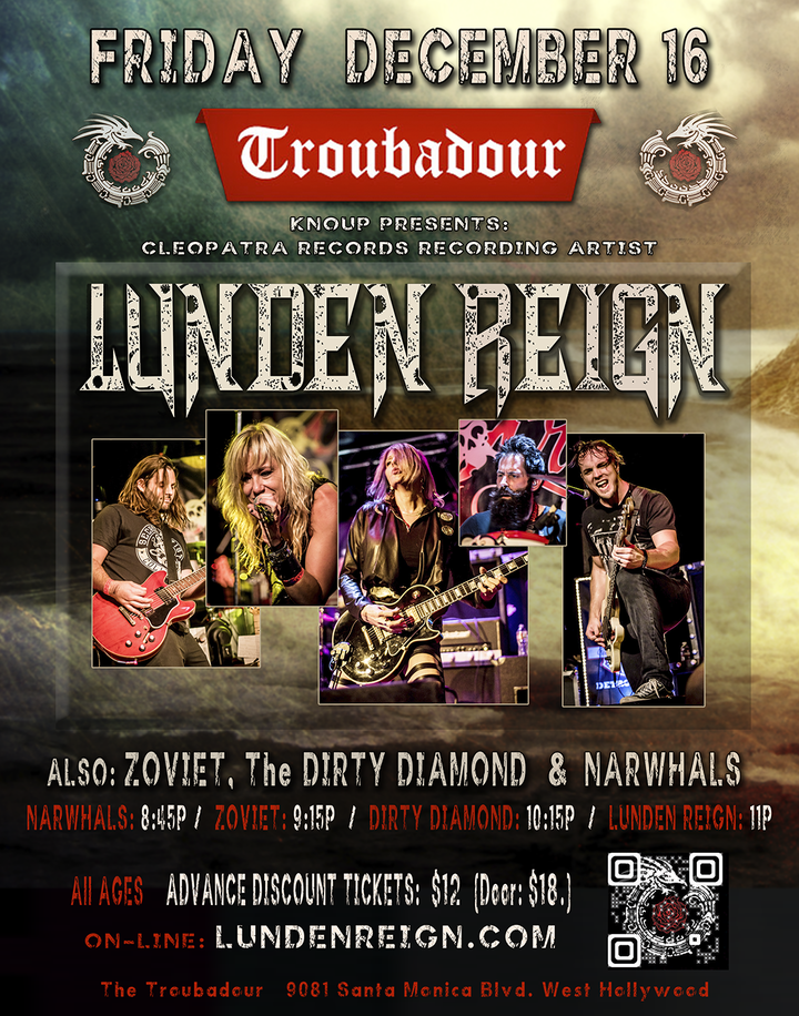 Lunden Reign @ The Troubadour - West Hollywood, CA