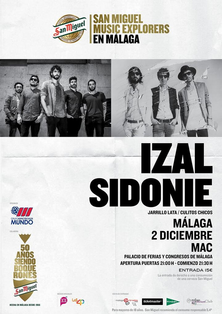 Sidonie @ MAC (Palacio de Ferias y Congresos) con Izal - Malaga, Spain