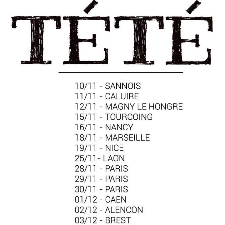 Tete @ SALLE PAUL FORT - Nantes, France