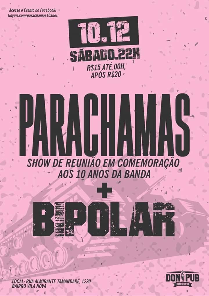 Parachamas @ Don Pub - Blumenau, Brazil