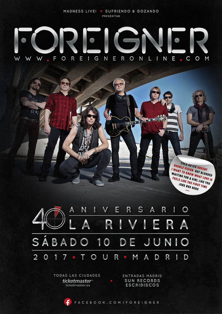 Foreigner @ LA RIVERA - Madrid, Spain