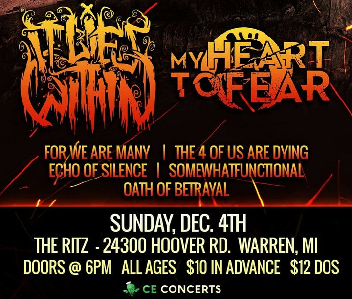 Oath of Betrayal Tour Dates
