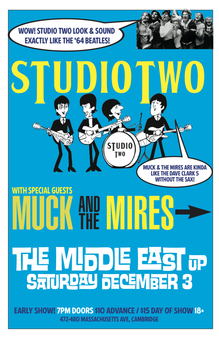 Studio Two - The Beatles Tribute @ The Middle East - Upstairs - Cambridge, MA