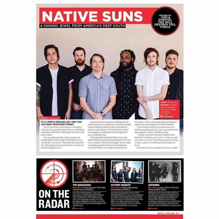 Native Suns Tour Dates