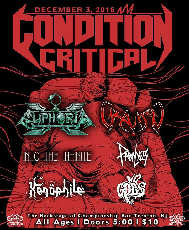Condition Critical @ The Backstage at Championship Bar - Trenton, NJ