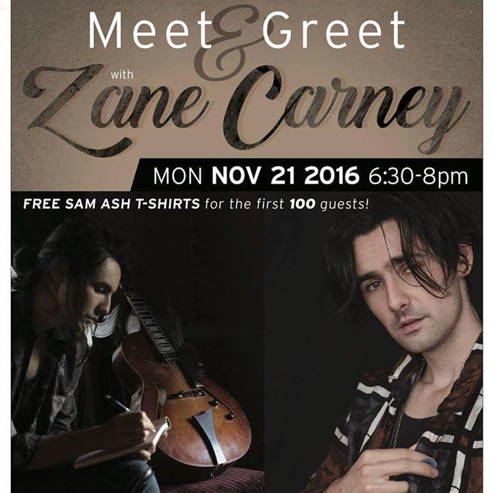 Zane Carney Tour Dates