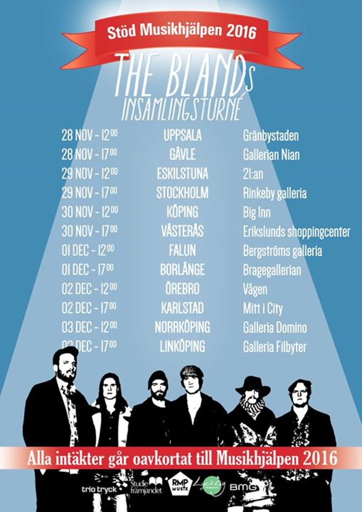 The Bland Band Tour Dates