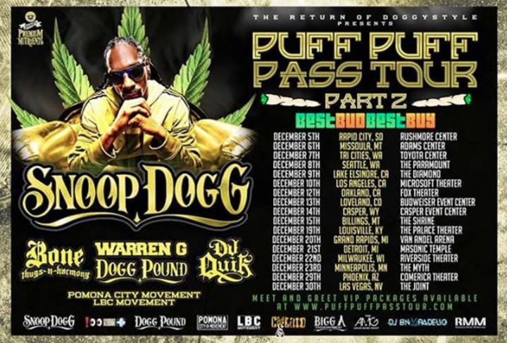 Snoop Dogg @ Shrine Auditorium - Billings, MT