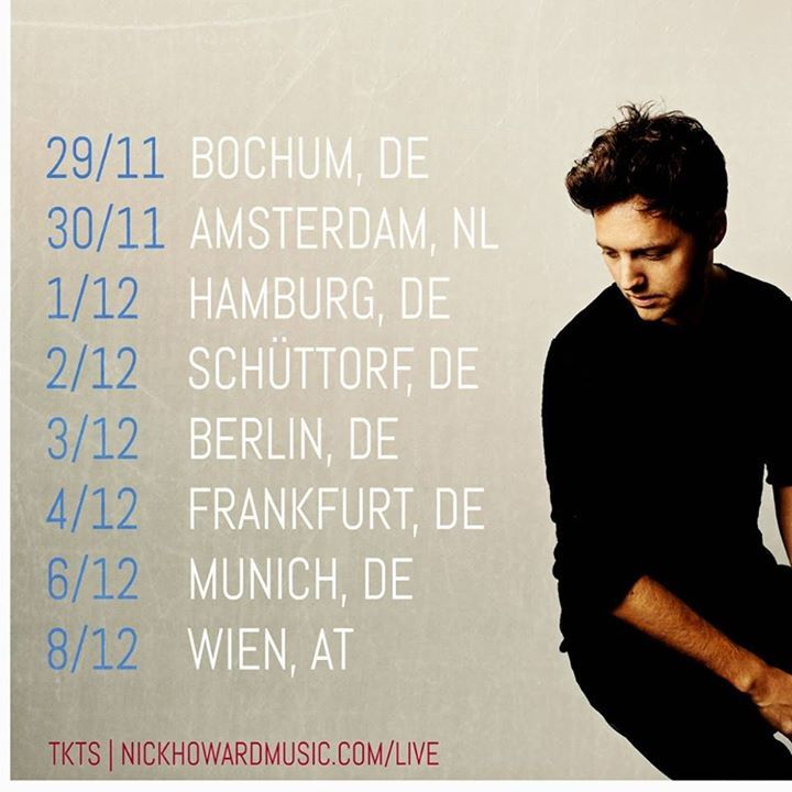 Nick Howard Tour Dates