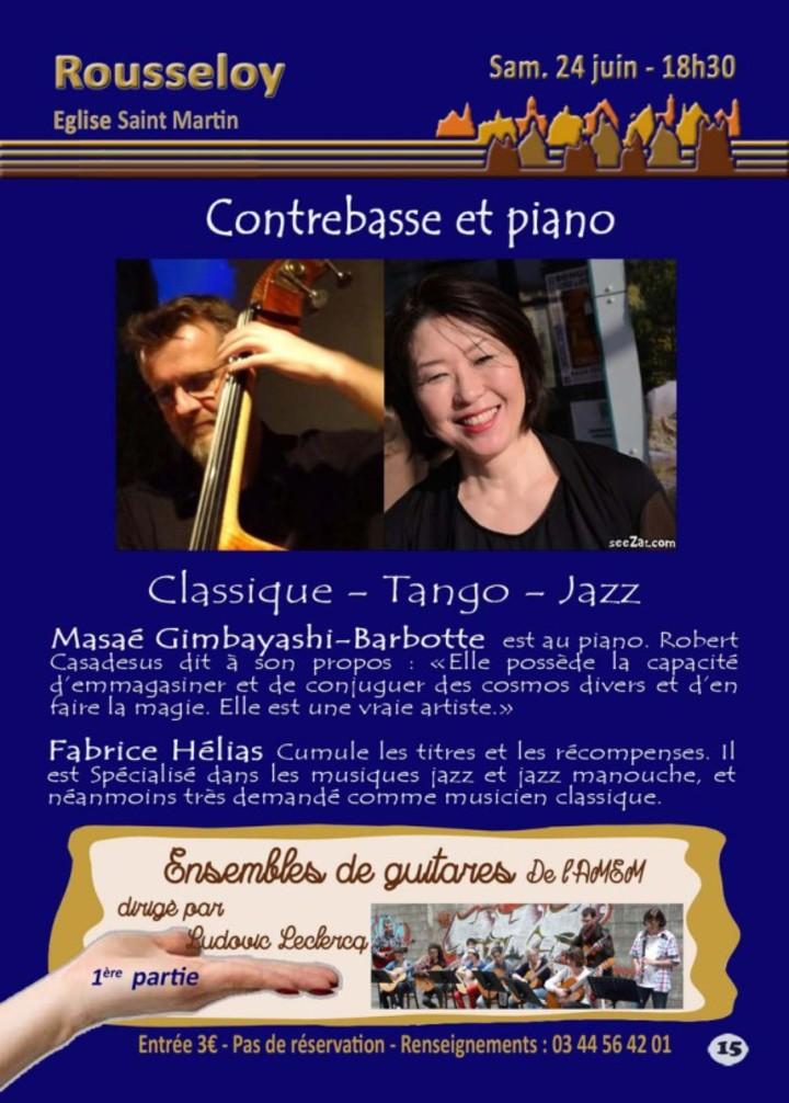 Pianist Masaé Gimbayashi-Barbotte バルボット成江 @ Eglise Saint Martin à Rousseloy - Clermont, France