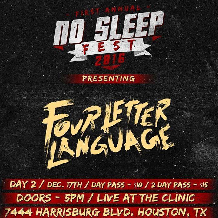 Four Letter Language Tour Dates