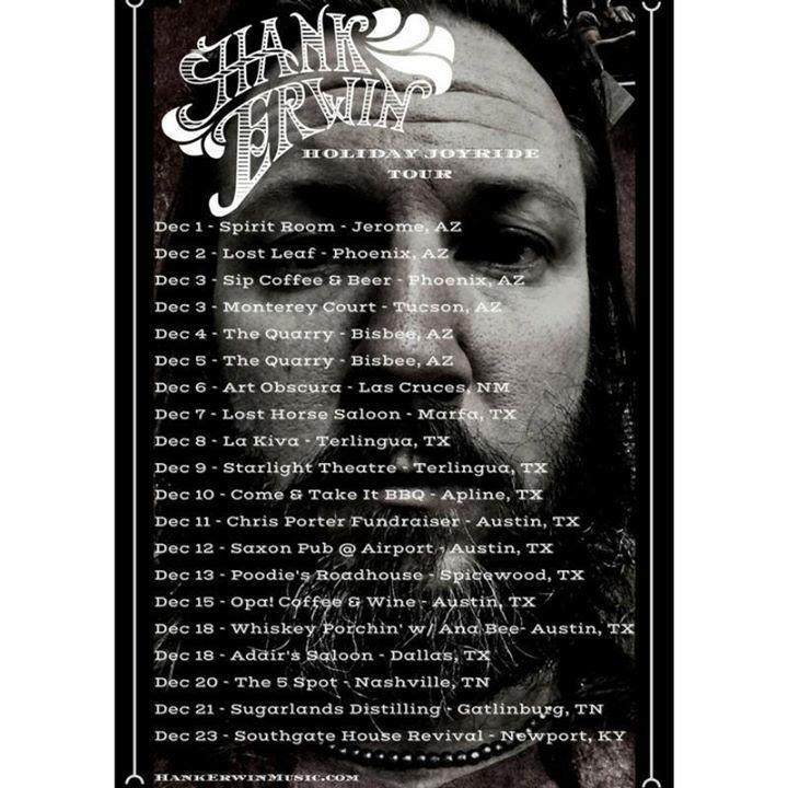 Hank Erwin Tour Dates