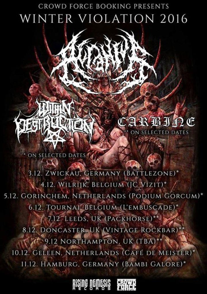 Acranius Tour Dates