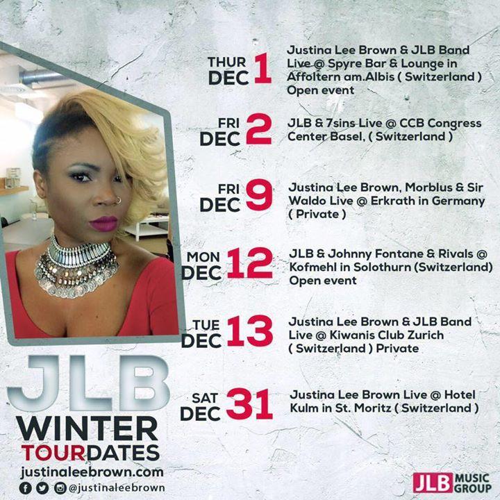 Justina Lee Brown Tour Dates