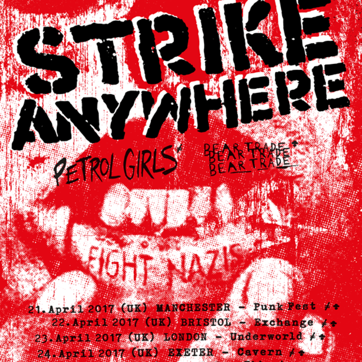 Strike Anywhere - Official ! Tour Dates
