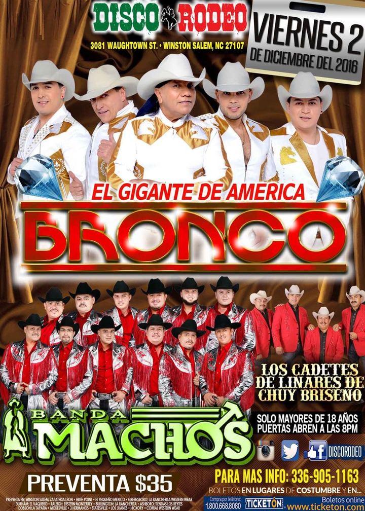 Grupo Bronco Winston Salem Concert Tickets Grupo