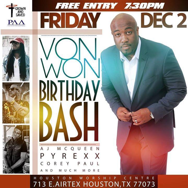 Von Won @ Church Without Walls - Houston, TX