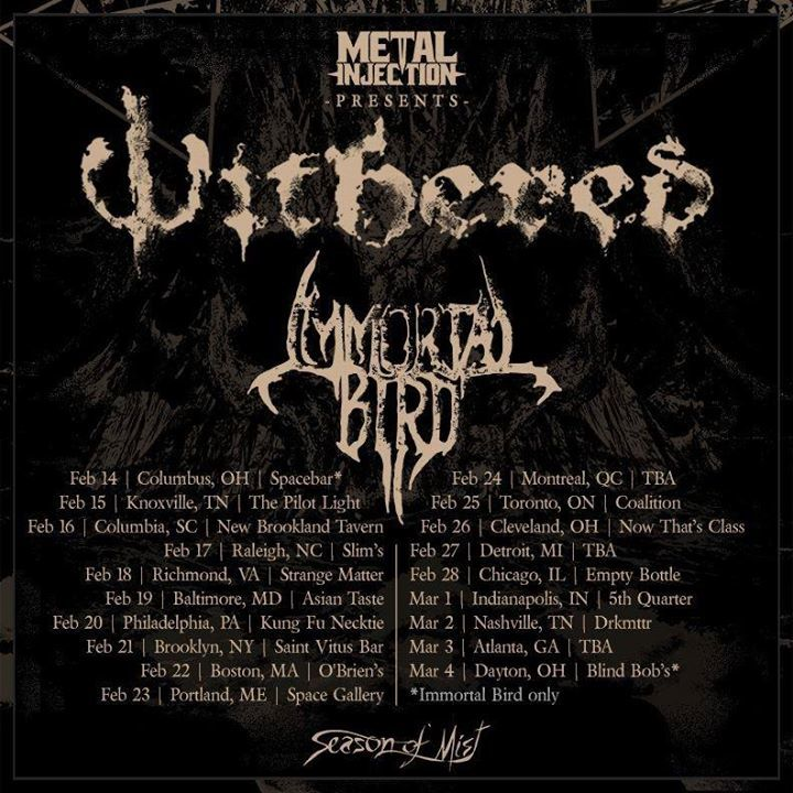 Withered Tour Dates